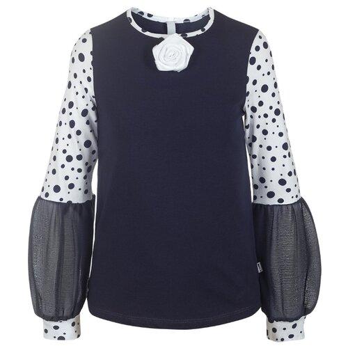 Блузка Nota Bene размер 128, темно-синий nota bene nota bene школьная блузка серая