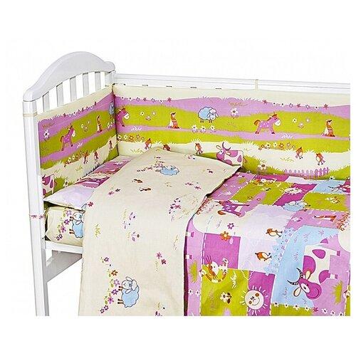 Фото - Baby Nice борт Ферма розовый аксессуары для колясок baby nice конверт baby nice с меховой подкладкой розовый
