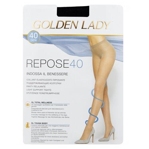 Колготки Golden Lady Repose 40 den, размер 4-L, nero (черный) колготки golden lady dynamic 40 den размер 4 l nero черный