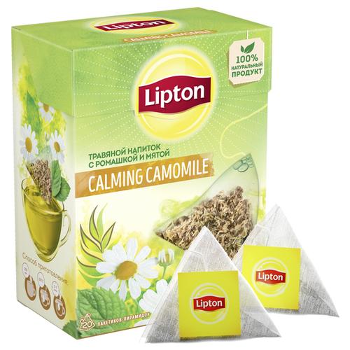 Фото - Чайный напиток травяной Lipton Calming Cаmomile в пирамидках, 20 шт. чай травяной леторос душевный разговор в пирамидках 20 шт