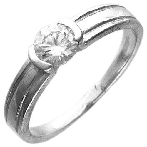 Эстет Кольцо с 1 фианитом из серебра 01К152986, размер 17