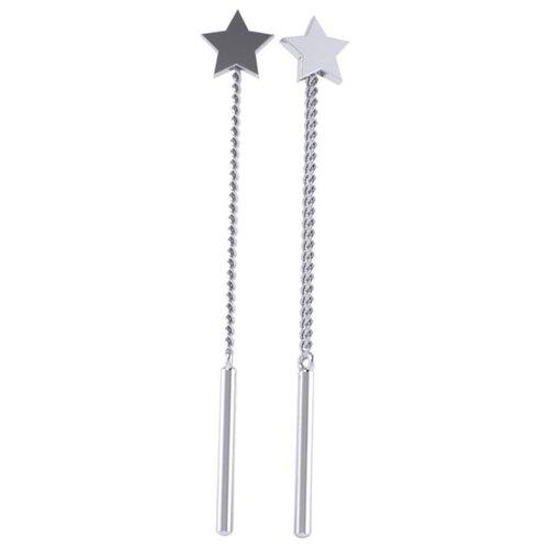 POKROVSKY Серебряные серьги-продевки «Звезды» 0221287-00245