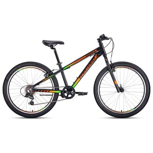 Подростковый горный (MTB) велосипед FORWARD Twister 24 1.0 (2020) черный/оранжевый 13