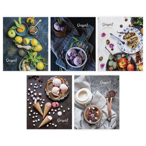 Купить ArtSpace Упаковка тетрадей Стиль. Beauty dessert Т48к_24366, 10 шт./5 дизайнов, клетка, 48 л., Тетради