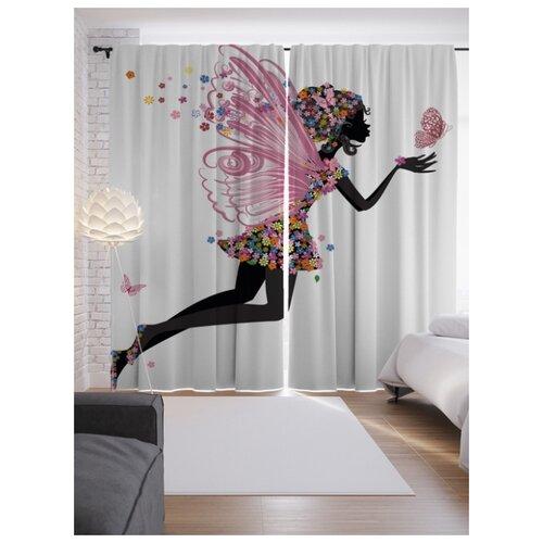 Портьеры JoyArty Цветочная фея на ленте 265 см (p-2696)