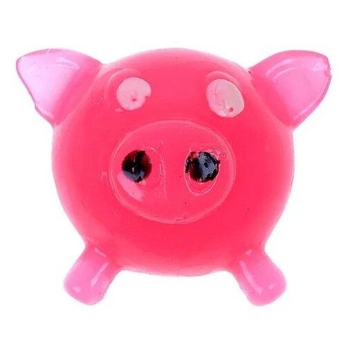 Лизун 1 TOY Свинья Т56327 розовый