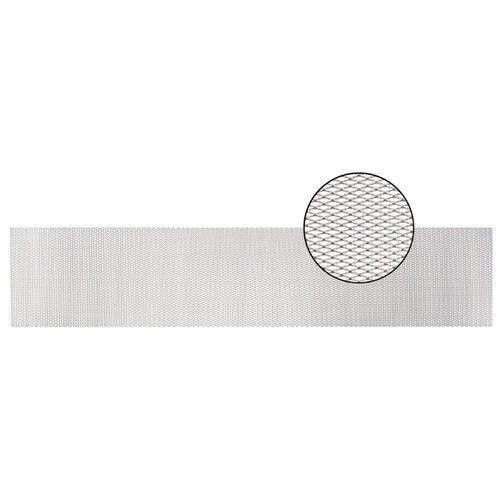 Облицовка радиатора (сетка декоративная) алюминий, 100 х 20 см, серебро, ячейки 10мм х 4мм