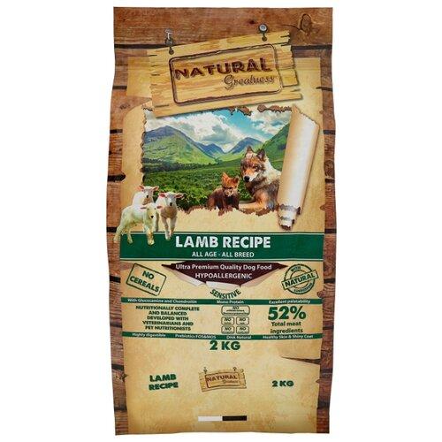 Сухой корм для собак NATURAL Greatness ягненок с горошком, с картофелем 2 кг greatness