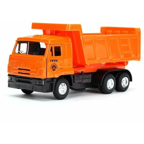 Купить Грузовик ТЕХНОПАРК КамАЗ Горстрой (SB-13-17) 1:43 оранжевый, Машинки и техника