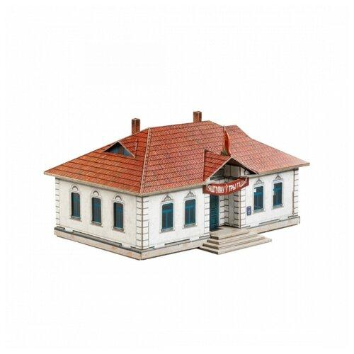 Купить Умная бумага 3D пазл - Правление колхоза Строения для железной дороги 1:87 39 деталей, Умная Бумага, Пазлы