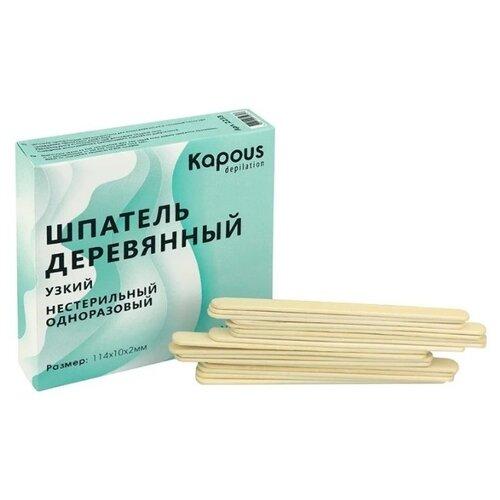 Купить Kapous Professional Шпатель деревянный узкий, 114*10*2 мм 100 шт.