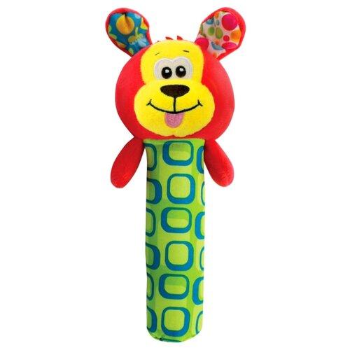 Купить Погремушка Азбукварик Люленьки пищалка Собачка красный/желтый/зеленый, Погремушки и прорезыватели