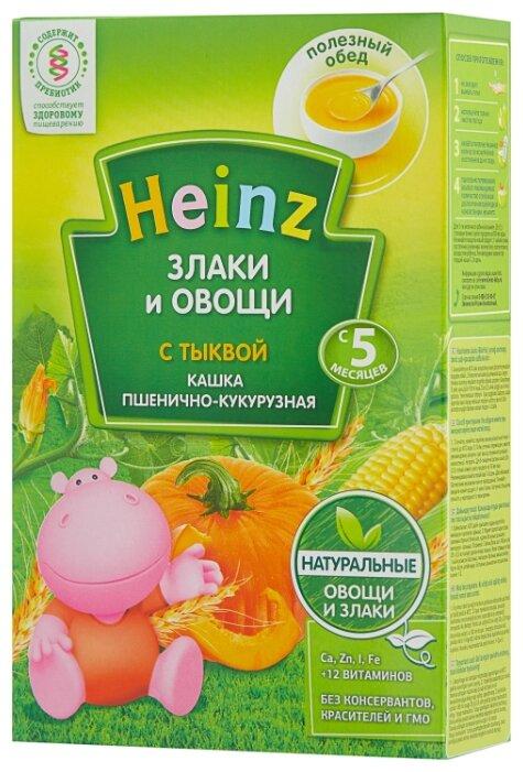 Каша Heinz безмолочная Злаки и овощи пшенично-кукурузная с тыквой (с 5 месяцев) 200 г