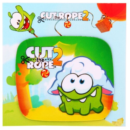 Магнит e-Best Cut The Rope2 Ам Ням в белом парике (СМ022)