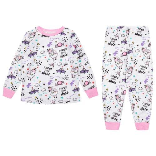 Купить Пижама Leader Kids размер 98, белый/розовый, Домашняя одежда