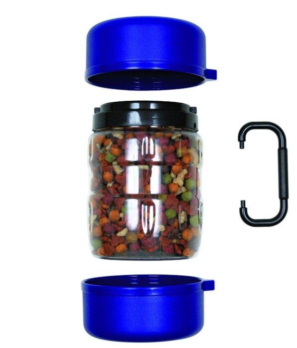 Контейнер для корма TRIXIE 2491 дорожный 1,75 л + 2 миски х 750 мл