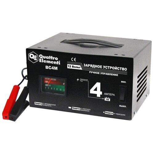 Зарядное устройство Quattro Elementi BC4M (770-063) черный зарядноеустройство quattroelementi 770 094 bc12m 12в 12а
