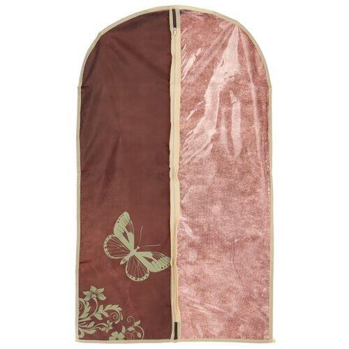 HAUSMANN Чехол для одежды AC005-2/4P-301 60x100 см коричнево-бежевый с бабочкой