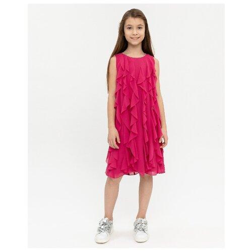 Платье Gulliver размер 134, фуксия