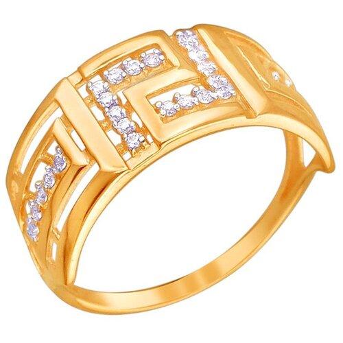 Эстет Кольцо с 26 фианитами из красного золота 01К1111365, размер 15.5