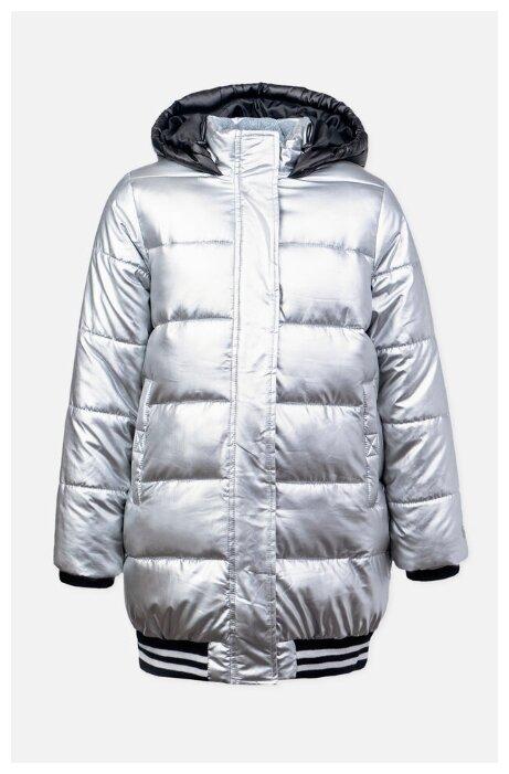 Купить Куртка playToday 392108 размер 104, серебристый/черный по низкой цене с доставкой из Яндекс.Маркета