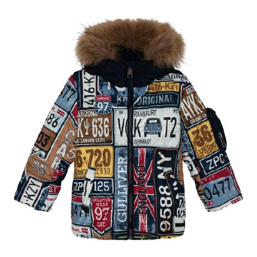 Купить Куртка Gulliver размер 146, синий, Куртки и пуховики