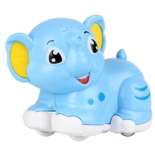 Развивающая игрушка Ути-Пути Покатушка погремушка Слоненок голубой