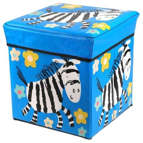 Корзина Наша игрушка Зебра 30х30х30 см синий
