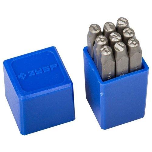 Набор клейм ЗУБР 21501-05_z01 (9 шт.) набор клейм зубр 21501 06 z01 9 шт