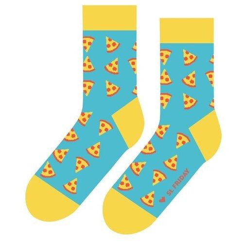 Фото - Носки St. Friday Пицца, размер 34-37, разноцветный носки st friday цой жив гуф умер размер 34 37 черный