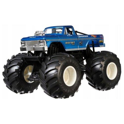 Купить Монстр-трак Hot Wheels Bigfoot 4x4 (FYJ83/GBV32) синий, Машинки и техника
