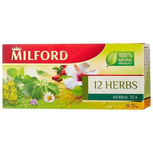 Чайный напиток красный Milford 12 herbs в пакетиках, 20 шт.