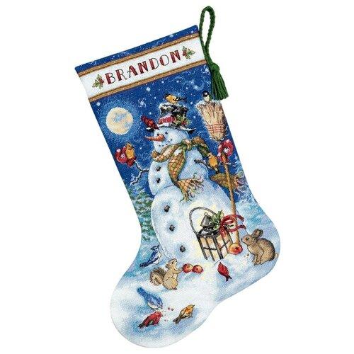 Купить Dimensions Набор для вышивания Сапожок. Снеговик и друзья 41 см (70-08839), Наборы для вышивания
