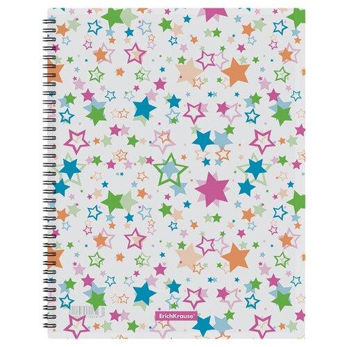 Купить ErichKrause Папка файловая с 20 карманами на спирали Neon stars A4, пластик, 4 штуки белый, Файлы и папки
