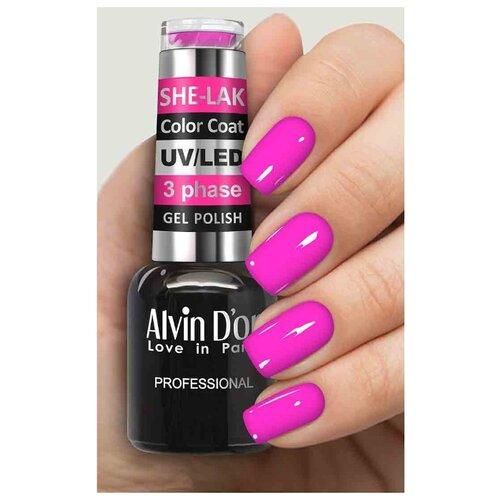 Купить Гель-лак для ногтей Alvin D'or She-Lak Color Coat, 8 мл, оттенок 3582
