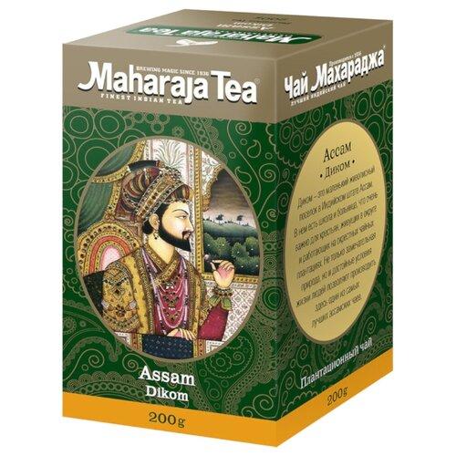 Чай чёрный Maharaja Tea Assam Dikom индийский байховый, 200 г maharaja tea магури билл чай черный байховый 100 г