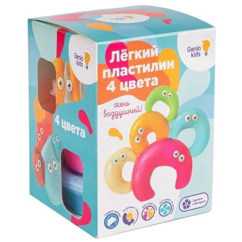 Масса для лепки Genio Kids 4 цвета (TA1714) набор для лепки genio kids art 4 шт