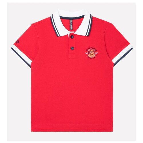 Поло crockid размер 134, насыщенно-красный платье crockid размер 134 насыщенно красный