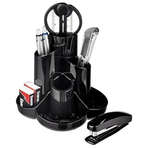 Купить Канцелярский набор Attache S-357, 10 пр., черный, Офисные наборы