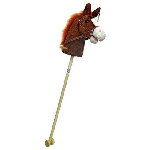 Купить Лошадка на палке Shantou Gepai Лошадка (61841) коричневый, Каталки и качалки