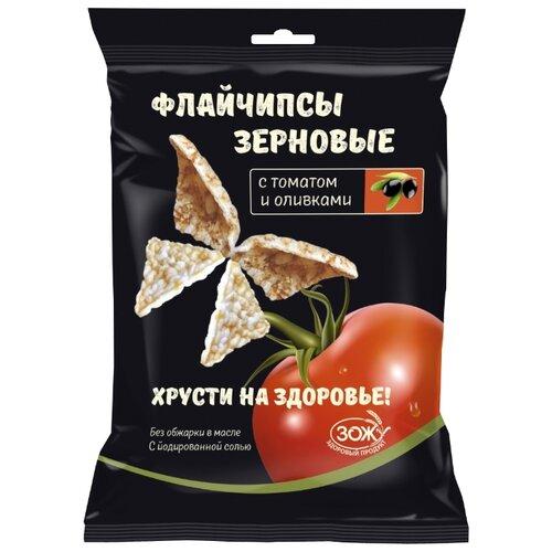 Зерновые снэки Флайчипсы зерновые с томатом и оливками 40 г