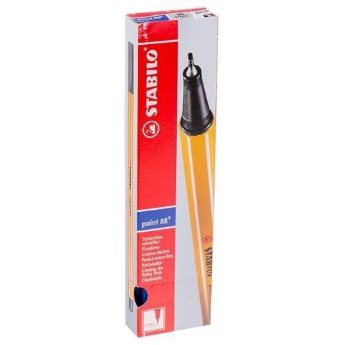 Купить STABILO Набор капиллярных ручек Point 88 0.4 мм, 10 шт., синий цвет чернил, Ручки