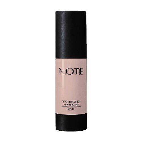 Купить Note Тональный крем Detox & Protect Foundation, 35 мл, оттенок: 103 pale almond