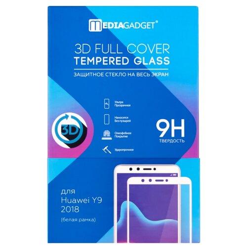 Защитное стекло Media Gadget 3D Full Cover Tempered Glass для Huawei Y9 2018 белый