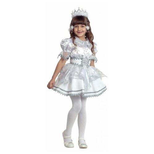 Купить Костюм Батик Снежинка (484), белый/серебристый, размер 104, Карнавальные костюмы