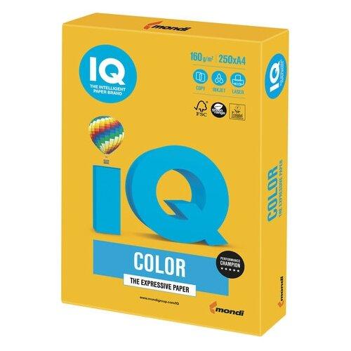 Фото - Бумага IQ Color А4 160 г/м² 250 лист. солнечно-желтый SY40 1 шт. бумага iq color а4 color 120 г м2 250 лист кораллово красный co44 1 шт