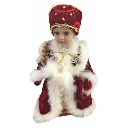 Фигурка Новогодняя Сказка Снегурочка в красном 30 см (973528) красный