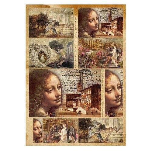 Купить Карта для декупажа Да Винчи 50 х 70 см 1 лист, Stamperia, Карты, салфетки, бумага