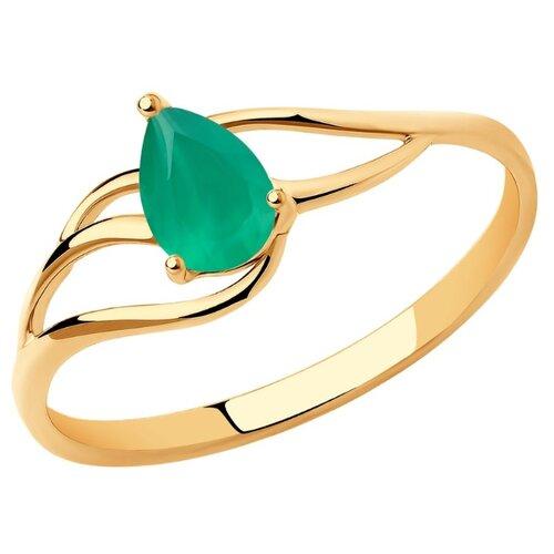 Diamant Кольцо из золота с агатом 51-310-00973-3, размер 16