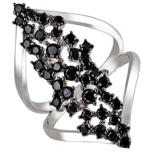 Эстет Кольцо с фианитами из серебра 01К2510006, размер 16 ЭСТЕТ